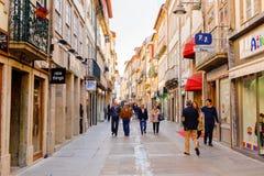 Arkitektur av Braga, Portugal royaltyfria bilder