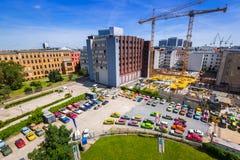 Arkitektur av centret i Berlin, Tyskland Arkivbilder