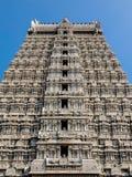 Arkitektur av den Annamalaiyar templet i Tiruvannamalai, Indien Fotografering för Bildbyråer