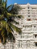 Arkitektur av den Annamalaiyar templet i Tiruvannamalai, Indien Arkivfoto