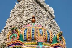 Arkitektur av den Annamalaiyar templet i Tiruvannamalai, Indien Royaltyfri Bild