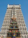Arkitektur av den Annamalaiyar templet i Tiruvannamalai, Indien Arkivbild