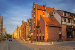 Arkitektur av den gamla staden av Elblag, Polen royaltyfri bild