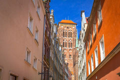 Arkitektur av den gamla staden i Gdansk Royaltyfri Foto