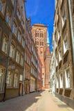 Arkitektur av den gamla staden i Gdansk Arkivbild