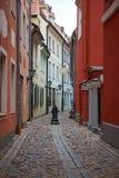 Arkitektur av den gammala townen av Riga Arkivfoto