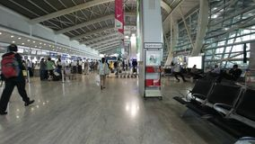 Arkitektur av den inhemska flygplatsterminalen Mumbai, Indien arkivfilmer