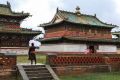 Arkitektur av den Kharkhorin Erdenzuu kloster, Mongoliet Royaltyfri Bild