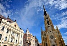 Arkitektur av den Novi Sad staden Fotografering för Bildbyråer