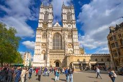 Arkitektur av den Westminster abbotskloster i London Arkivbild