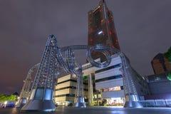 Arkitektur av den Yokohama cityatnatten Arkivbild