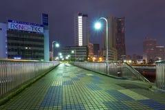 Arkitektur av den Yokohama cityatnatten, Japan Royaltyfria Foton