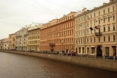 Arkitektur av det historiska centret av St Petersburg, Ryssland Arkivbilder