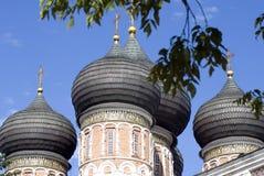 Arkitektur av det Izmailovo säterit i Moskva domkyrkaintercessionmoscow röd russia fyrkant Arkivfoto