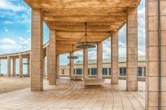Arkitektur av det olympiskt parkerar i Montjuic, Barcelona, Catalon Arkivbilder
