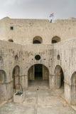 Arkitektur av fortet Lovrjenac i Dubrovnik Royaltyfria Bilder