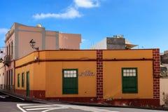 Arkitektur av Guia de Isora Arkivfoto