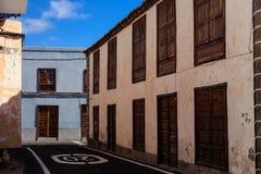 Arkitektur av Guia de Isora Arkivbild