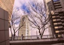 Arkitektur av Japan skyskrapor tokyo Arkivfoton