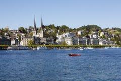 Arkitektur av Lucerne vid sjön Royaltyfri Bild