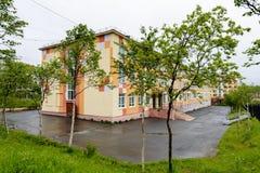 Arkitektur av Magada, rysk federation Arkivbilder