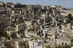 Arkitektur av Matera, Basilicata, Italien royaltyfria bilder