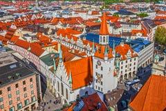 Arkitektur av Munich, Bayern, Tyskland gammal town Royaltyfria Bilder