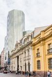 Arkitektur av Santiago de Chile Arkivfoto