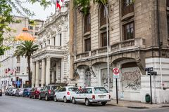 Arkitektur av Santiago de Chile Royaltyfri Fotografi