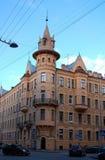 Arkitektur av St Petersburg, Ryssland Arkivfoto