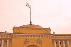 Arkitektur av St Petersburg, Ryssland Amiralitetet byggnad Fotografering för Bildbyråer