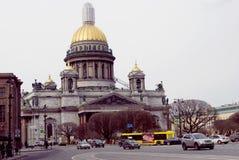 Arkitektur av St Petersburg, Ryssland Domkyrka för helgonIsaak ` s Fotografering för Bildbyråer