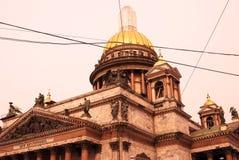 Arkitektur av St Petersburg, Ryssland Domkyrka för helgonIsaak ` s Arkivbilder