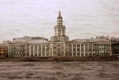 Arkitektur av St Petersburg, Ryssland Domkyrka för helgonIsaak ` s Arkivfoton
