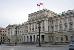 Arkitektur av St Petersburg, Ryssland mariinsky slott Royaltyfria Bilder