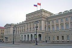 Arkitektur av St Petersburg, Ryssland mariinsky slott Royaltyfri Foto