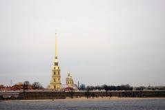 Arkitektur av St Petersburg, Ryssland Peter och Pauls fortess Arkivfoto