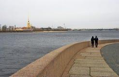 Arkitektur av St Petersburg, Ryssland Peter och Pauls fortess Royaltyfria Bilder