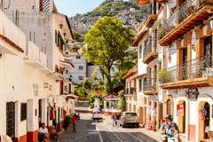 Arkitektur av Taxco, Mexico arkivbild
