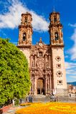 Arkitektur av Taxco, Mexico arkivbilder