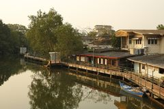 Arkitektur av Trat Thailand arkivbild