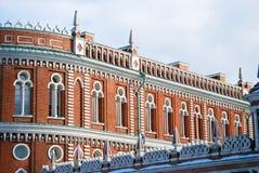 Arkitektur av Tsaritsyno parkerar i Moskva Royaltyfri Bild