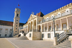 Arkitektur av universitetet av Coimbra Arkivbild