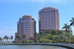 Arkitektur i West Palm Beach Arkivfoto