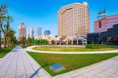 Arkitektur av Xinyi det finansiella området Arkivbild