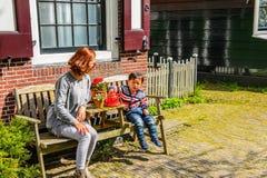 Arkitektur av Zaanse Shaans, Nederländerna royaltyfria foton