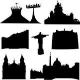 arkitektur brazil som gott vets vektor illustrationer