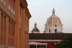 arkitektur cartagena colombia de indias fotografering för bildbyråer