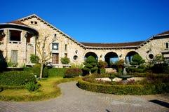 Arkitektur Dalat, franskt forntida hus Royaltyfria Bilder
