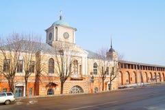 arkitektur Del av den gamla stadsväggen smolensk Ryssland Royaltyfri Foto